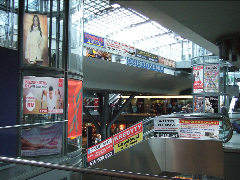 Wnętrze - wizualizacja reklam zgodnych z katalogiem PKP